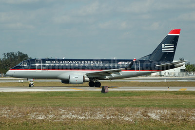 US Airways Express-MidAtlantic Airways Embraer ERJ 170-100SU N802MD (msn 17000013) FLL (Bruce Drum). Image: 104572.