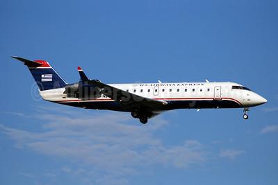 US Airways Express-PSA Airlines (2nd) Bombardier CRJ200 (CL-600-2B19) N242JS (msn 7911) DCA (Bruce Drum). Image: 100894.