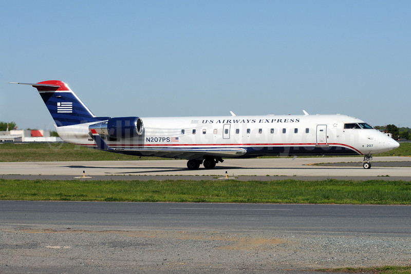 US Airways Express-PSA Airlines (2nd) Bombardier CRJ200 (CL-600-2B19) N207PS (msn 7873) CLT (Bruce Drum). Image: 101409.