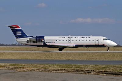 US Airways Express-PSA Airlines (2nd) Bombardier CRJ200 (CL-600-2B19) N244PS (msn 7912) CLT (Jay Selman). Image: 402100.