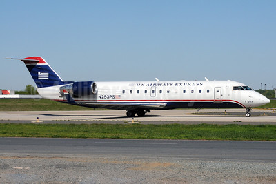 US Airways Express-PSA Airlines (2nd) Bombardier CRJ200 (CL-600-2B19) N253PS (msn 7934) CLT (Bruce Drum). Image: 101407.