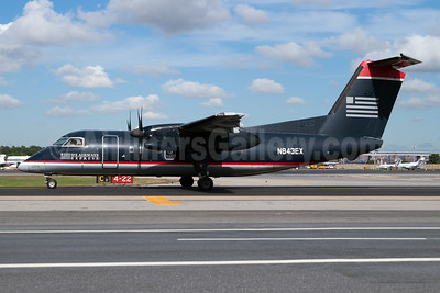 US Airways Express-Piedmont Airlines (2nd) Bombardier DHC-8-102 Dash 8 N843EX (msn 335) LGA (Fred Freketic). Image: 949971.