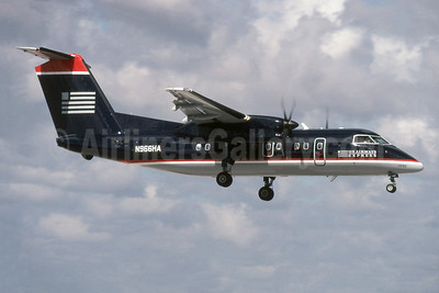 US Airways Express-Piedmont Airlines (2nd) Bombardier DHC-8-202 Dash 8 (Q200) N966HA (msn 452) MIA (SPA). Image: 942399.