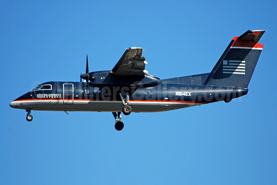US Airways Express-Piedmont Airlines (2nd) Bombardier DHC-8-102 Dash 8 N814EX (msn 318) CLT (Bruce Drum). Image: 104677.