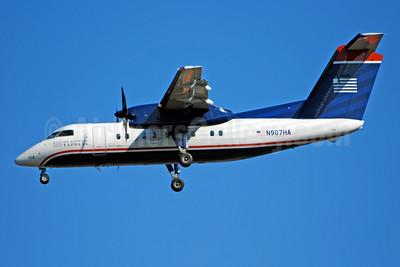 US Airways Express-Piedmont Airlines (2nd) Bombardier DHC-8-102 Dash 8 N907HA (msn 011) CLT (Bruce Drum). Image: 104678.