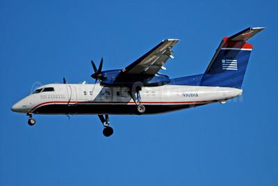 US Airways Express-Piedmont Airlines (2nd) Bombardier DHC-8-102 Dash 8 N908HA (msn 015) CLT (Bruce Drum). Image: 104679.