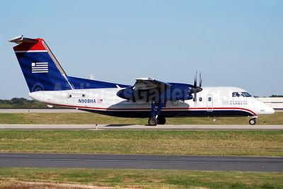 US Airways Express-Piedmont Airlines (2nd) Bombardier DHC-8-102 Dash 8 N908HA (msn 015) CLT (Bruce Drum). Image: 100890.