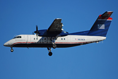 US Airways Express-Piedmont Airlines (2nd) Bombardier DHC-8-102 Dash 8 N838EX (msn 220) CLT (Bruce Drum). Image: 100889.