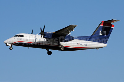 US Airways Express-Piedmont Airlines (2nd) Bombardier DHC-8-102 Dash 8 N837EX (msn 217) CLT (Bruce Drum). Image: 101693.