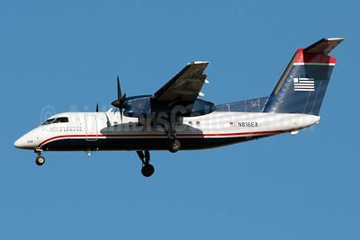 US Airways Express-Piedmont Airlines (2nd) Bombardier DHC-8-102 Dash 8 N816EX (msn 329) LGA (Fred Freketic). Image: 949969.