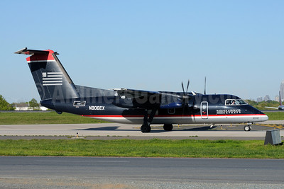 US Airways Express-Piedmont Airlines (2nd) Bombardier DHC-8-102 Dash 8 N806EX (msn 263) CLT (Bruce Drum). Image: 101411.