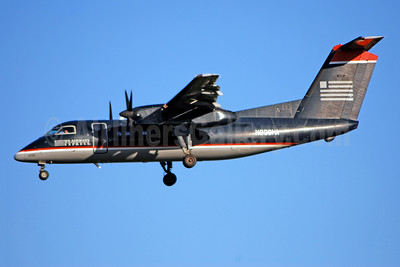 US Airways Express-Piedmont Airlines (2nd) Bombardier DHC-8-102 Dash 8 N906HA (msn 009) CLT (Bruce Drum). Image: 104180.