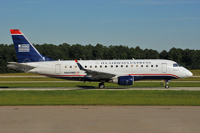 US Airways Express-Republic Airlines (2nd) Embraer ERJ 170-100SU N804MD (msn 17000016) RDU (Ken Petersen). Image: 929453.