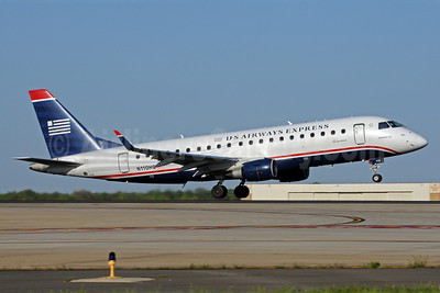 US Airways Express-Republic Airlines (2nd) Embraer ERJ 170-200LR (ERJ 175) N110HQ (msn 17000172) CLT (Bruce Drum). Image: 102011.