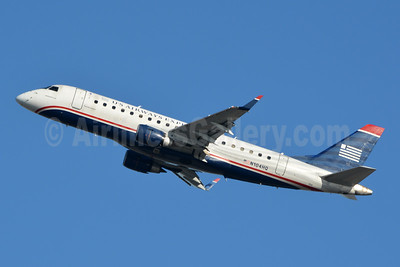 US Airways Express-Republic Airlines (2nd) Embraer ERJ 170-200LR (ERJ 175) N104HQ (msn 17000160) PHL (Jay Selman). Image: 404039.