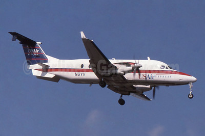 USAir Express-Florida Gulf Airlines Beech 1900D N6YV (msn UE-6) MCO (SPA). Image: 954073.
