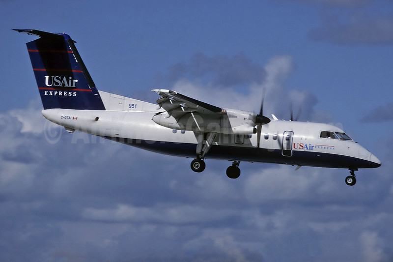 USAir Express-Piedmont Airlines (2nd) de Havilland Canada DHC-8-102 Dash 8 C-GTAI (msn 078) (Richard Vandervord). Image: 929914.