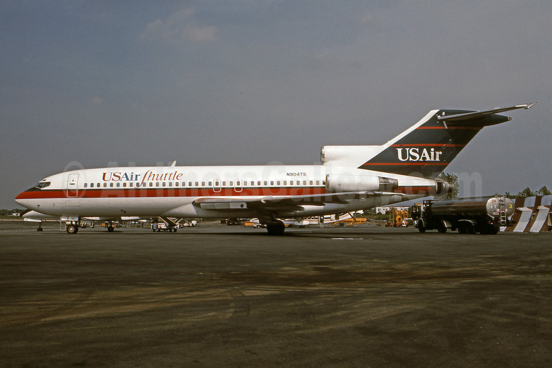 USAir Shuttle Boeing 727-25 N904TS (msn 18291) DCA (Bruce Drum Collection). Image: 101070.