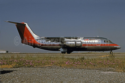 USAir BAE 146-200 N173US (msn E2031) SFO (Bruce Drum Collection). Image: 101037.