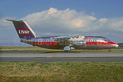 USAir BAe 146-200 N171US (msn E2028) SFO (Christian Volpati Collection). Image: 927380.