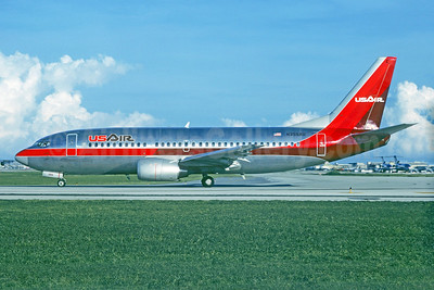 USAir Boeing 737-3B7 N355AU (msn 22955) FLL (Christian Volpati Collection). Image: 927379.