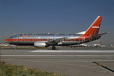 USAir Boeing 737-3B7 N369AU (msn 23319) PHL (Robert Drum). Image: 101046.