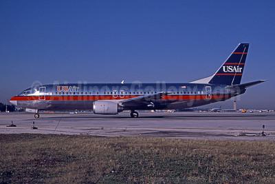 USAir Boeing 737-4B7 N445US (msn 24863) MIA (Bruce Drum). Image: 101048.