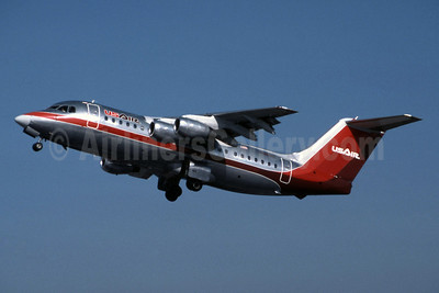 USAir BAE 146-200 N188US (msn E2047) SNA (Jay Selman). Image: 400480.