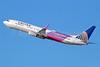 United's purple Boeing 737-900ER March of Dimes logo jet
