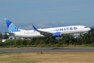 United Airlines Boeing 737-9 MAX 9 N1780B (N27520) (msn 64499) PAE (Nick Dean). Image: 951068.