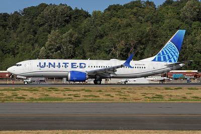 United Airlines Boeing 737-8 MAX 8 N37257 (msn 43442) BFI (Nick Dean). Image: 954533.