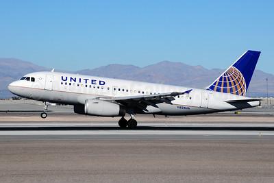 United Airlines Airbus A319-131 N828UA (msn 1031) LAS (Ton Jochems). Image: 911681.