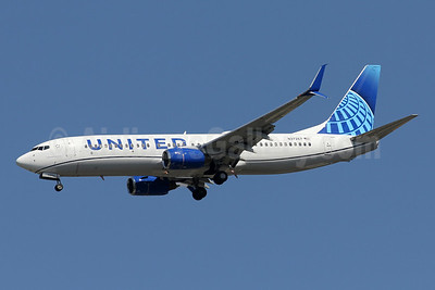 """United's 2019 updated """"out with the gold"""" livery, unveiled on April 24, 2019"""