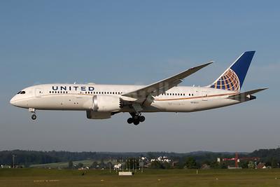 United Airlines Boeing 787-8 Dreamliner N29907 (msn 34830) ZRH (Andi Hiltl). Image: 944200.