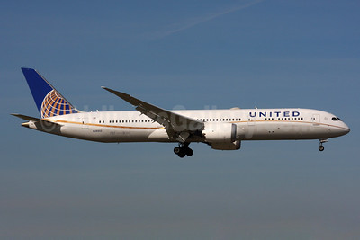 United Airlines Boeing 787-9 Dreamliner N26952 (msn 36403) LHR (SPA). Image: 937553.