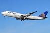 United Airlines Boeing 747-422 N177UA (msn 24384) LHR (Keith Burton). Image: 910644.