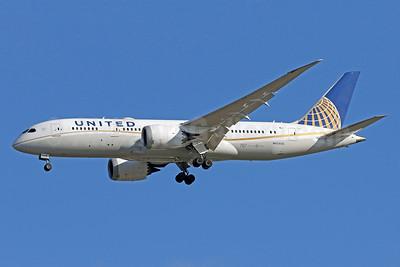 United Airlines Boeing 787-8 Dreamliner N45905 (msn 34825) IAD (Brian McDonough). Image: 940036.