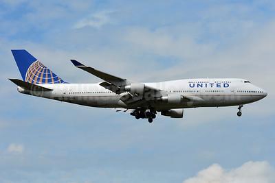 United Airlines Boeing 747-422 N116UA (msn 26908) FRA (Paul Bannwarth). Image: 939153.