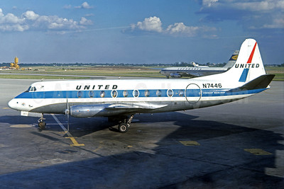 United Airlines Vickers Viscount 745D N7446 (msn 202) (Jacques Guillem Collection). Image: 939517.