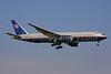 United Airlines Boeing 777-222 ER N216UA (msn 30549) LHR (Keith Burton). Image: 901768.