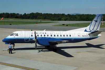United Express-Colgan Air (2nd) SAAB 340B N242CJ (msn 242) CHO (Jay Selman). Image: 402185.