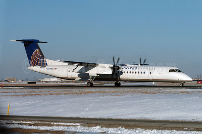 United Express-Colgan Air (2nd) Bombardier DHC-8-402 (Q400) N208WQ (msn 4208) YYZ (TMK Photography). Image: 907485.