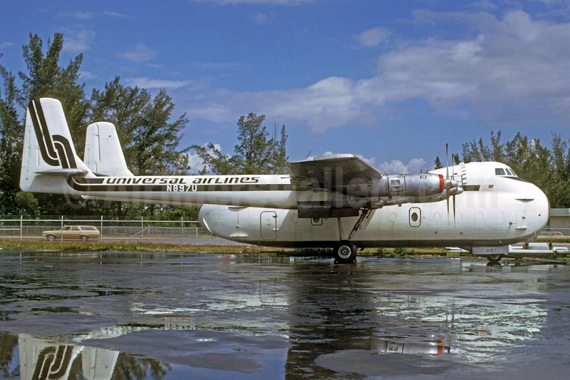 Universal Airlines (3rd) Armstrong Whitworth AW650-101 Argosy N897U (msn 6654) MIA (Bruce Drum). Image: 103263.