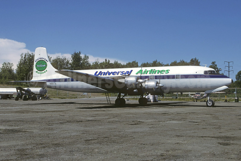 Universal Airlines (4th) Douglas DC6B (F) N861TA (msn 43522) ANC (Christian Volpati Collection). Image: 901773.