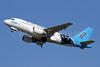 US Airways Airbus A319-112 N717UW (msn 1069) (Carolina Panthers) CLT (Jay Selman). Image: 400238.