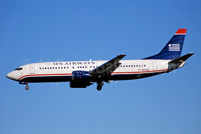 US Airways Boeing 737-4B7 N440US (msn 24811) CLT (Bruce Drum). Image: 104385.