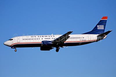 US Airways Boeing 737-4B7 N440US (msn 24811) CLT (Bruce Drum). Image: 104385.