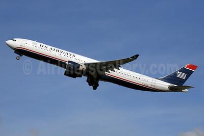 US Airways Airbus A330-323 N275AY (msn 370) LHR (SPA). Image: 926493.