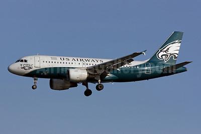 US Airways Airbus A319-112 N709UW (msn 997) (Philadelphia Eagles) DCA (Brian McDonough). Image: 902421.