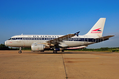 US Airways Airbus A319-112 N745VJ (msn 1289) (Allegheny Airlines retrojet) RDU (Ken Petersen). Image: 928610.